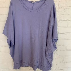 Women's Terry Tee with Short Bat Wing Sleeve